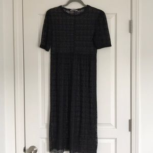 Zara black midi dress